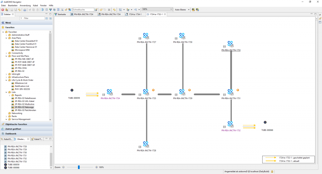 Connectivity Structure Editor Layer 1